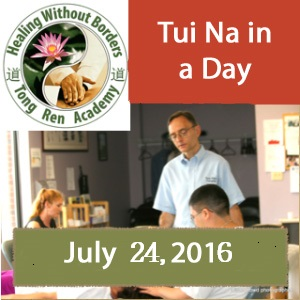 Tui Na Massage In A Day Live Workshop July 24, 2016